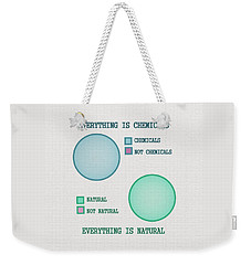 Weekender Tote Bag featuring the digital art Everything Is by Ivana Westin