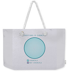 Weekender Tote Bag featuring the digital art Everything Is Chemicals by Ivana Westin