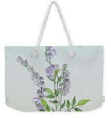 Purple Tiny Flowers Weekender Tote Bag by Ivana Westin