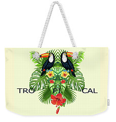 Tropical Summer  Weekender Tote Bag by Mark Ashkenazi