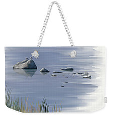 Weekender Tote Bag featuring the painting Gull Siesta by Ivana Westin