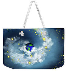 The World In His Hands Weekender Tote Bag by Methune Hively