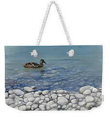 Weekender Tote Bag featuring the painting Clear Water  by Ivana Westin
