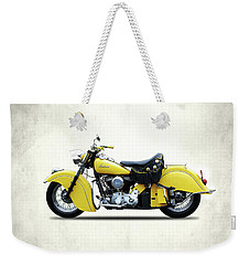 Indian Chief 1951 Weekender Tote Bag by Mark Rogan