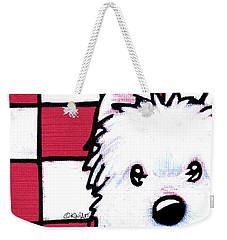 Westie On Checks Weekender Tote Bag