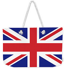 Union Jack Ensign Flag 1x2 Scale Weekender Tote Bag by Bruce Stanfield