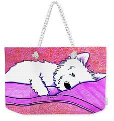 Sleepy Westie Girl Weekender Tote Bag