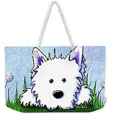 Kiniart Westie Springtime Weekender Tote Bag