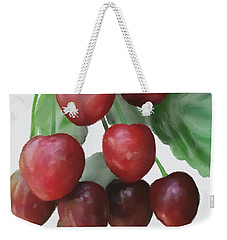 Weekender Tote Bag featuring the painting Sour Cherry by Ivana Westin