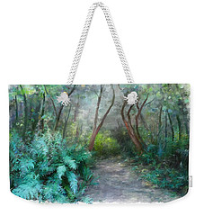 Weekender Tote Bag featuring the painting In The Bush by Ivana Westin