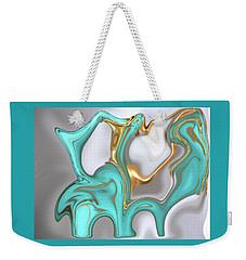 Liquid  Turquoise Weekender Tote Bag