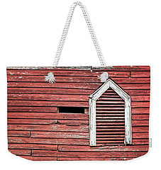 Red Barn Gable Vent Weekender Tote Bag