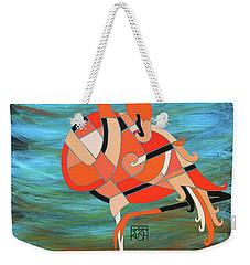 An Elegant Flamingo Weekender Tote Bag