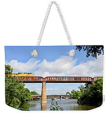 Train Across Lady Bird Lake Weekender Tote Bag