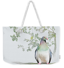 Weekender Tote Bag featuring the painting Wood Pigeon by Ivana Westin