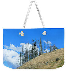 Weekender Tote Bag featuring the photograph At The End Of The World by Ivana Westin