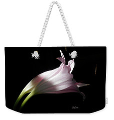 Lovely Lilies Couple Embraced Weekender Tote Bag by Felipe Adan Lerma