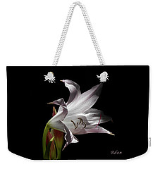 Weekender Tote Bag featuring the photograph Lovely Lilies Curling Grace by Felipe Adan Lerma