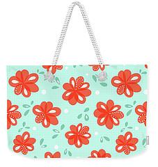 Cheerful Red Flowers Weekender Tote Bag