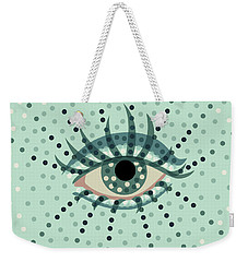 Beautiful Abstract Dotted Blue Eye Weekender Tote Bag