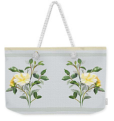 Weekender Tote Bag featuring the painting Yellow Watercolor Rose by Ivana Westin