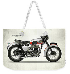 1959 T120 Bonneville Weekender Tote Bag by Mark Rogan