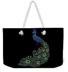 Jeweled Peacock Weekender Tote Bag