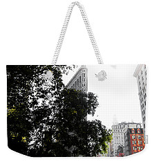 Weekender Tote Bag featuring the photograph Flatiron Autumn  by Nicklas Gustafsson