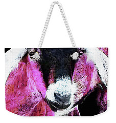 Pop Art Goat - Pink - Sharon Cummings Weekender Tote Bag by Sharon Cummings