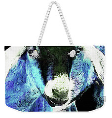Goat Pop Art - Blue - Sharon Cummings Weekender Tote Bag by Sharon Cummings
