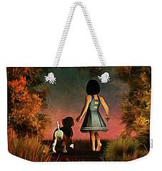 Romantic Walk In The Woods Weekender Tote Bag