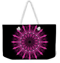 Ombre Pink Flower Mandala Weekender Tote Bag