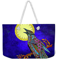 Electric Crow Weekender Tote Bag by Tammy Wetzel
