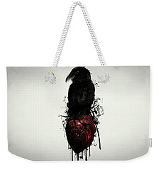 Raven And Heart Grenade Weekender Tote Bag