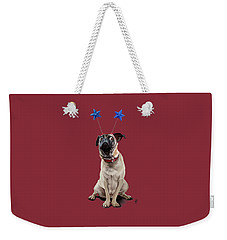 Weekender Tote Bag featuring the drawing A Pug's Life Colour by Rob Snow