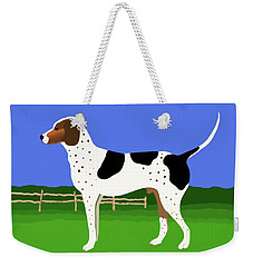 German Shorthaired Pointer In A Field Weekender Tote Bag