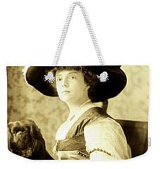 Vintage Lady With Lapdog Weekender Tote Bag