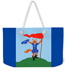 Weekender Tote Bag featuring the painting Reynard The Fairy Tale Fox by Marian Cates