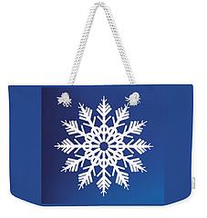 Snowflake Blue  Weekender Tote Bag