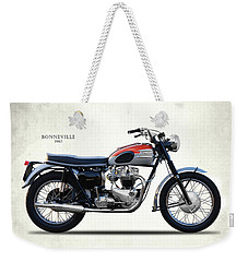 Bonneville T120 1962 Weekender Tote Bag by Mark Rogan