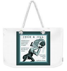 Jack And Jill Vintage Mother Goose Nursery Rhyme Weekender Tote Bag