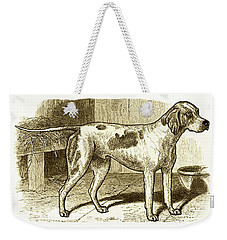 Vintage Sepia German Shorthaired Pointer Weekender Tote Bag