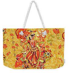 Ganges Flower Weekender Tote Bag by Eva Campbell