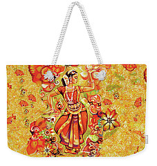 Ganges Flower Weekender Tote Bag