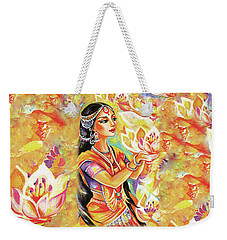Pray Of The Lotus River Weekender Tote Bag