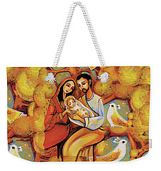 Weekender Tote Bag featuring the painting Tree Of Life by Eva Campbell