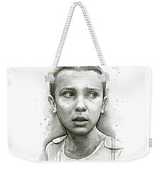 Stranger Things Eleven Upside Down Art Portrait Weekender Tote Bag