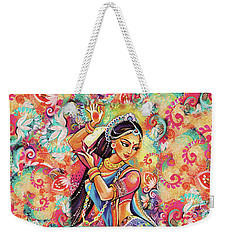 Weekender Tote Bag featuring the painting Dancing Of The Phoenix by Eva Campbell