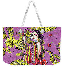 Weekender Tote Bag featuring the painting Soul Of India by Eva Campbell