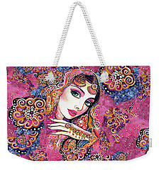 Weekender Tote Bag featuring the painting Kumari by Eva Campbell
